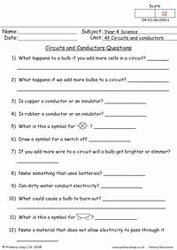 Conductors and Insulators Worksheet New 9 Best Of Circuit Symbols Worksheet Electronic