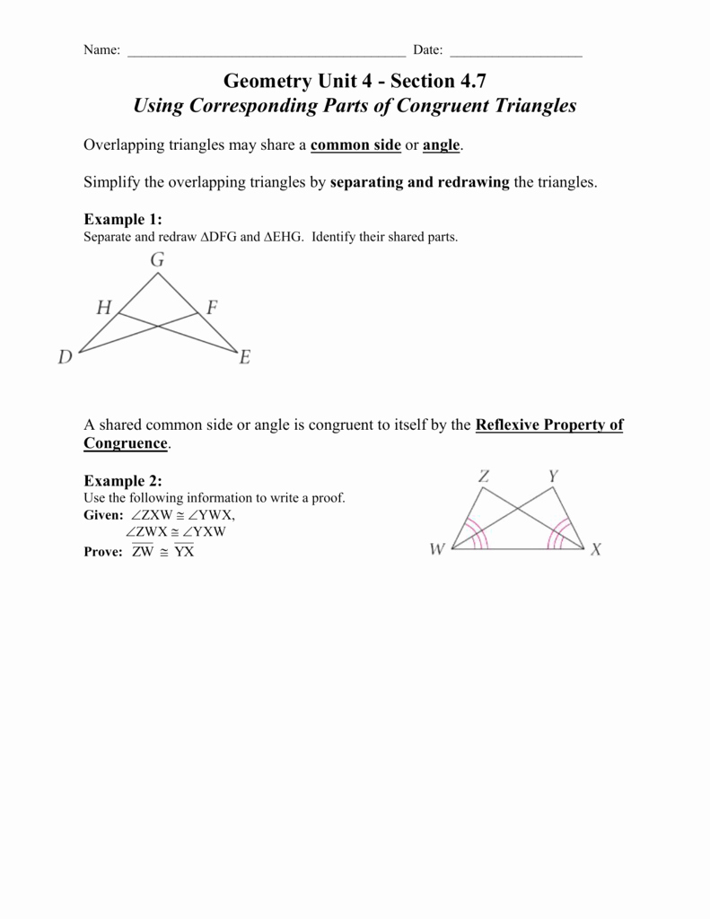 Congruent Triangles Worksheet Answer Key Lovely Triangle Congruence Worksheet Answer Key