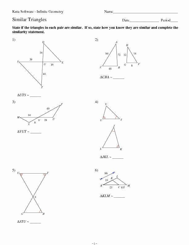 Congruent Triangles Worksheet with Answer Elegant Similar Triangles Worksheet