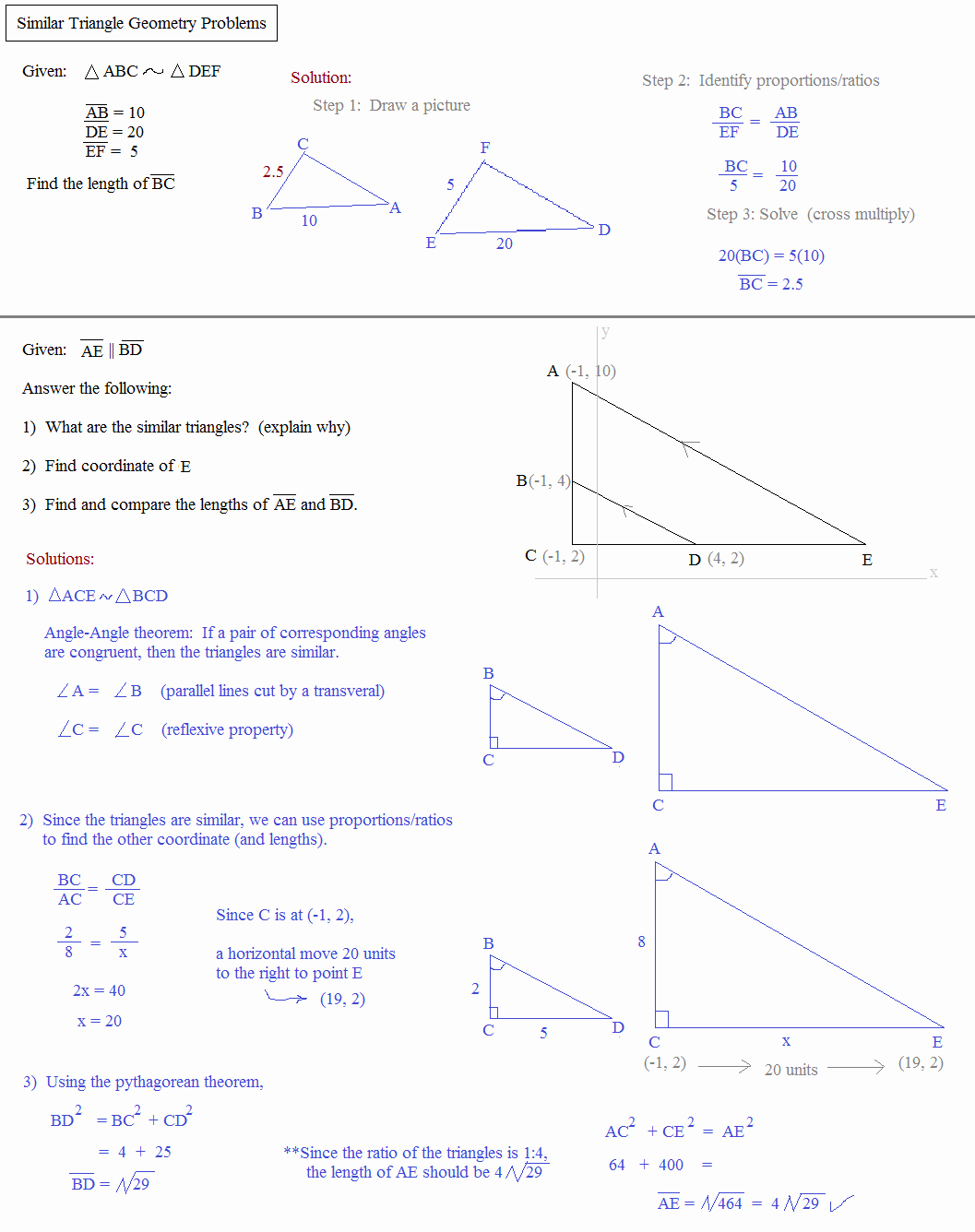 Congruent Triangles Worksheet with Answer Lovely theorems for Similar Triangles Worksheet Answers