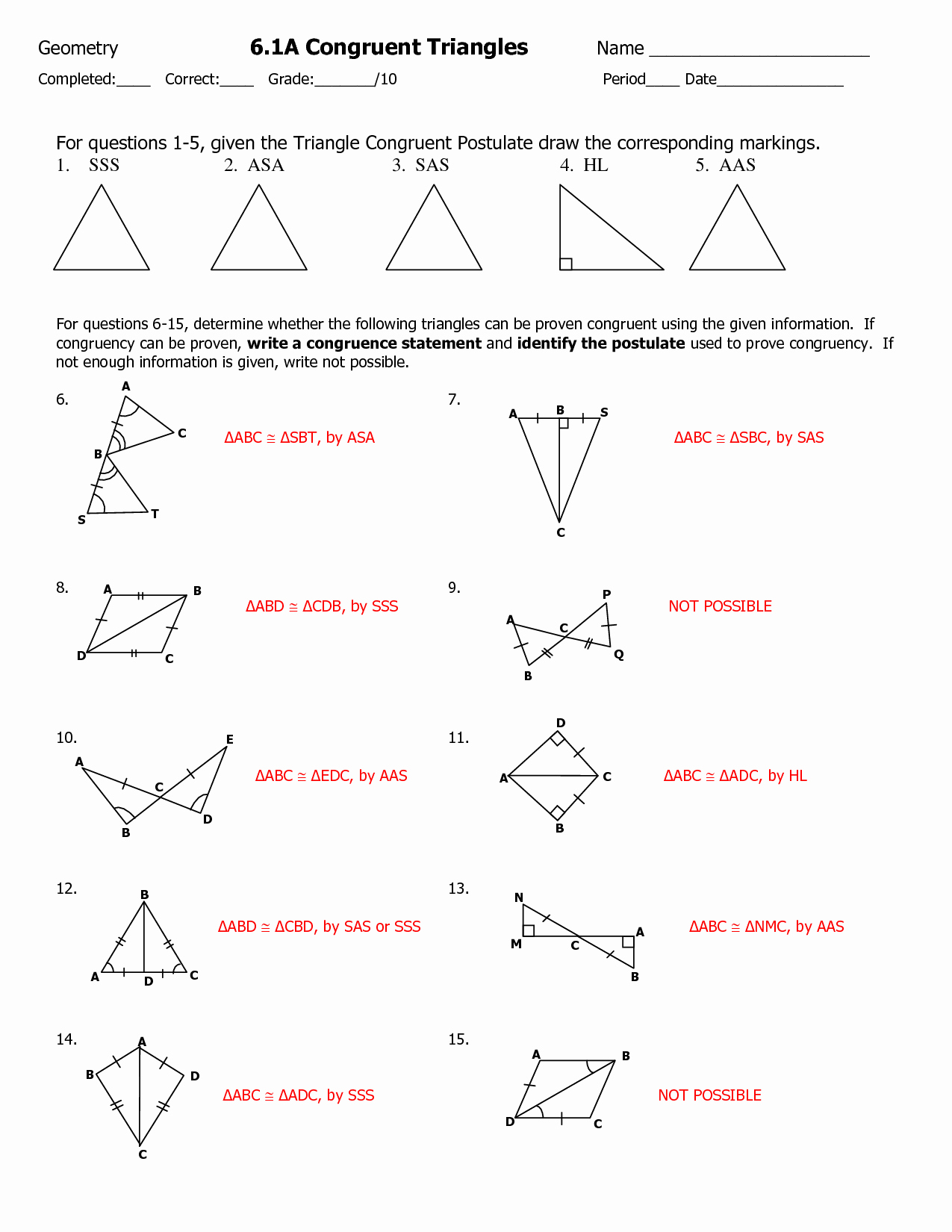 Congruent Triangles Worksheet with Answer New 13 Best Of Proving Triangles Congruent Worksheet
