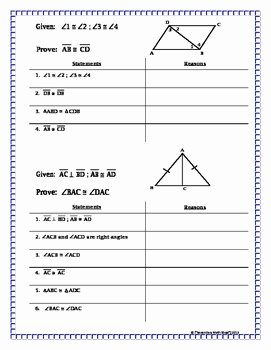 Congruent Triangles Worksheet with Answers Inspirational Congruent Triangles Proving Triangles Congruent Missing