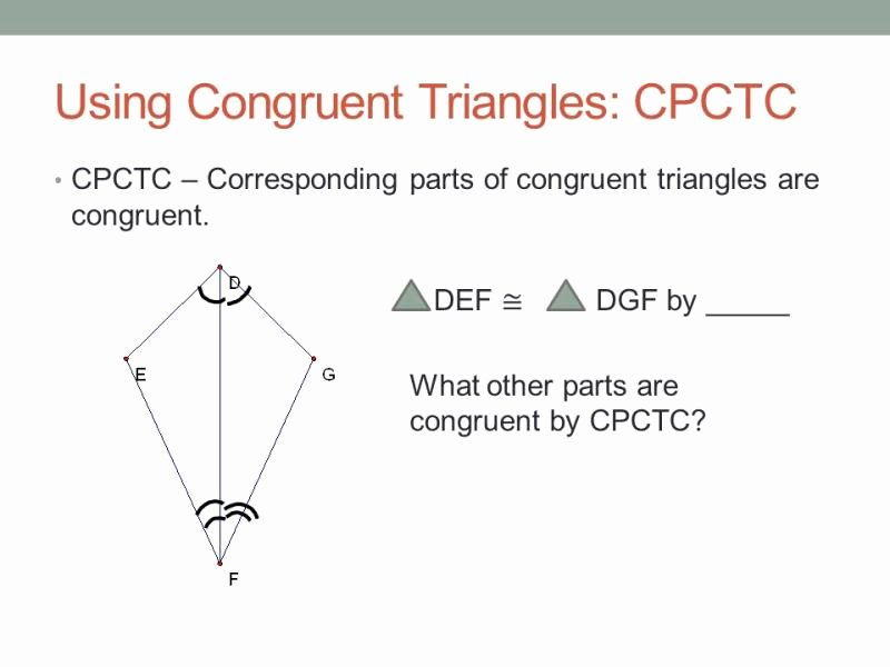 Congruent Triangles Worksheet with Answers New Using Congruent Triangles Cpctc Worksheet Answers Ourclipart