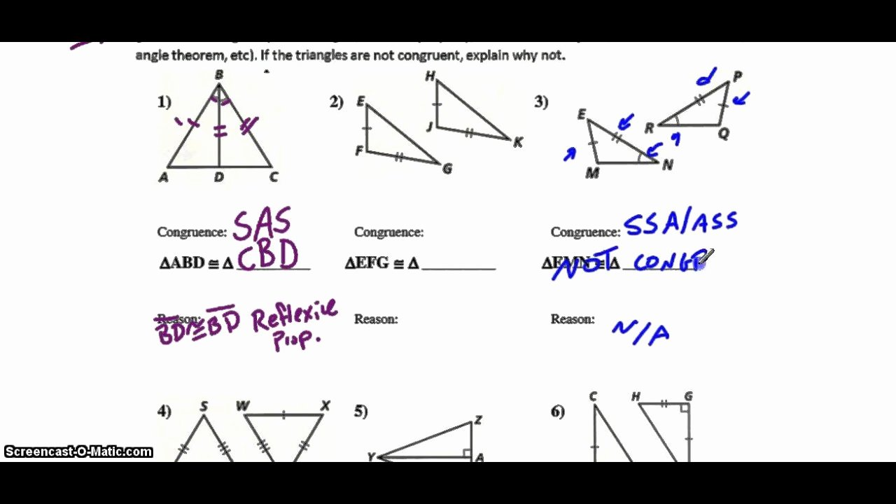 Congruent Triangles Worksheet with Answers Unique Triangle Congruence Tier 2 Triangle Congruence Worksheet
