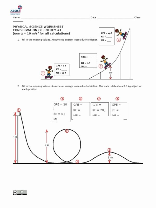 Conservation Of Energy Worksheet Answers Fresh Conservation Energy Worksheet Workshee Conservation Of