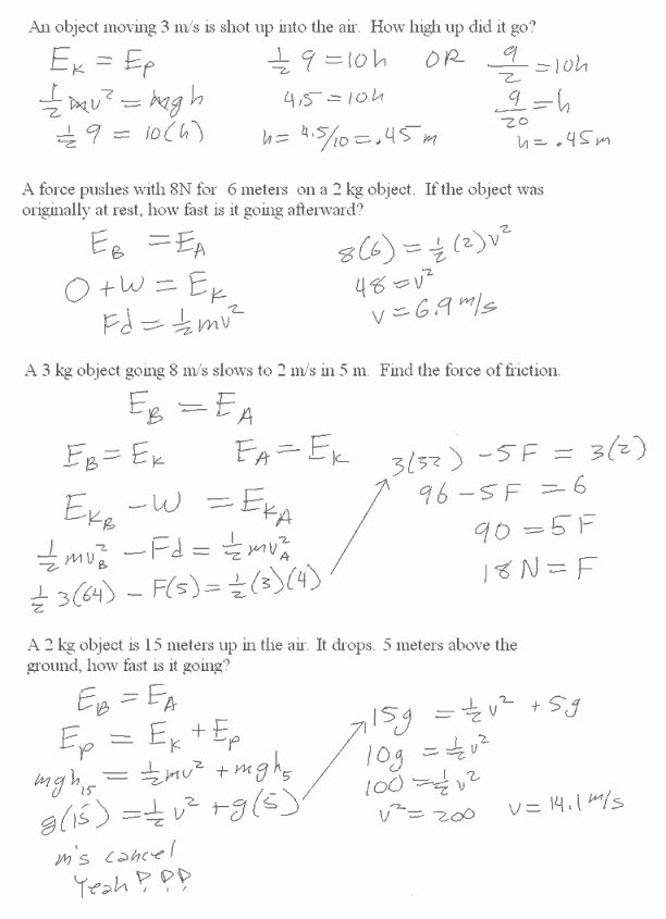 Conservation Of Energy Worksheet Answers Luxury Conservation Mechanical Energy Worksheet