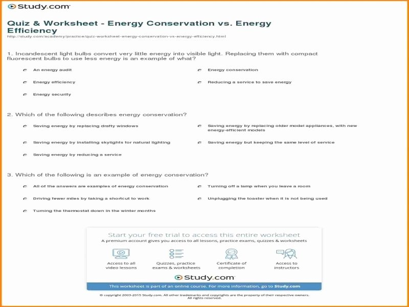 Conservation Of Energy Worksheet Answers New Law Conservation Mass Worksheet Answers Free