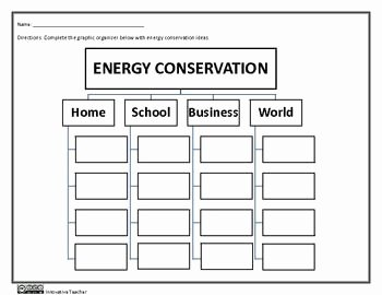 Conservation Of Energy Worksheet Best Of Energy Conservation Graphic organizer Worksheet