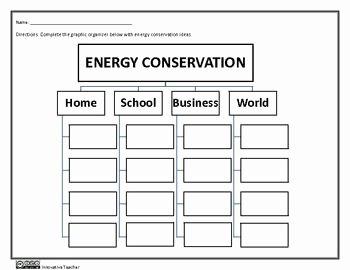 Conservation Of Energy Worksheet Best Of Energy Conservation Graphic organizer Worksheet