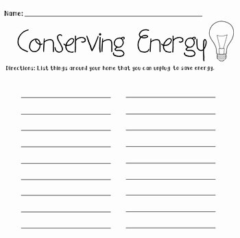 Conservation Of Energy Worksheet Fresh Conservation Energy Worksheet Pdf Energy Etfs