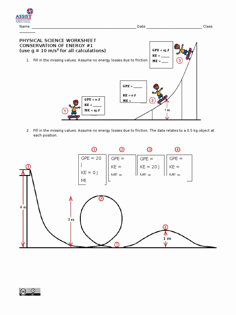 Conservation Of Energy Worksheet Inspirational Conservation Of Energy Worksheet Funresearcher