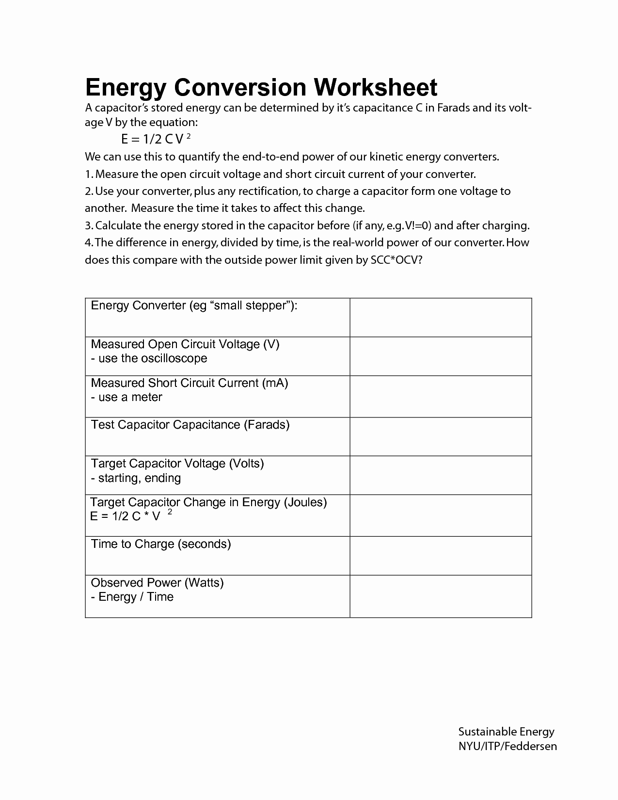Conservation Of Energy Worksheet Unique 16 Best Of Energy Conversions Worksheet forms Of