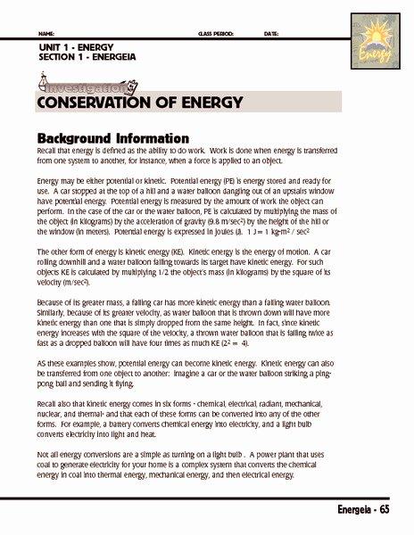 Conservation Of Energy Worksheet Unique Keplers Laws Worksheet Middle School