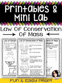 Conservation Of Mass Worksheet Awesome Law Of Conservation Of Mass Worksheets and Mini