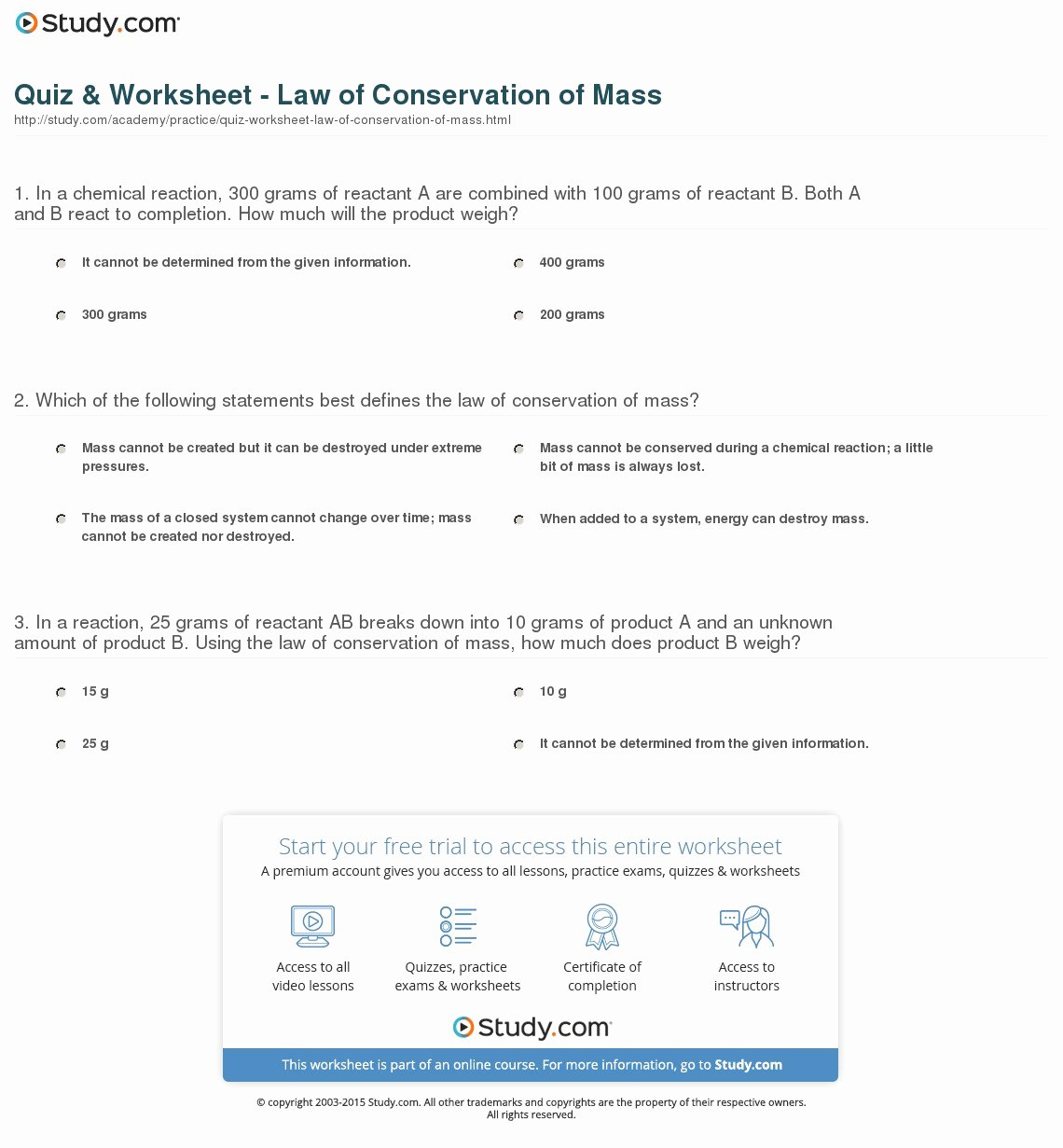 Conservation Of Mass Worksheet Best Of Worksheet 7 Math Skills Converting Amount to Mass