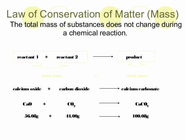 conservation of mass worksheet