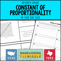Constant Of Proportionality Worksheet Best Of Teaching Proportional Relationships Maneuvering the Middle