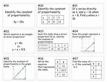 Constant Of Proportionality Worksheet Best Of Unit Rate Constant Of Proportionality Game Board Mon