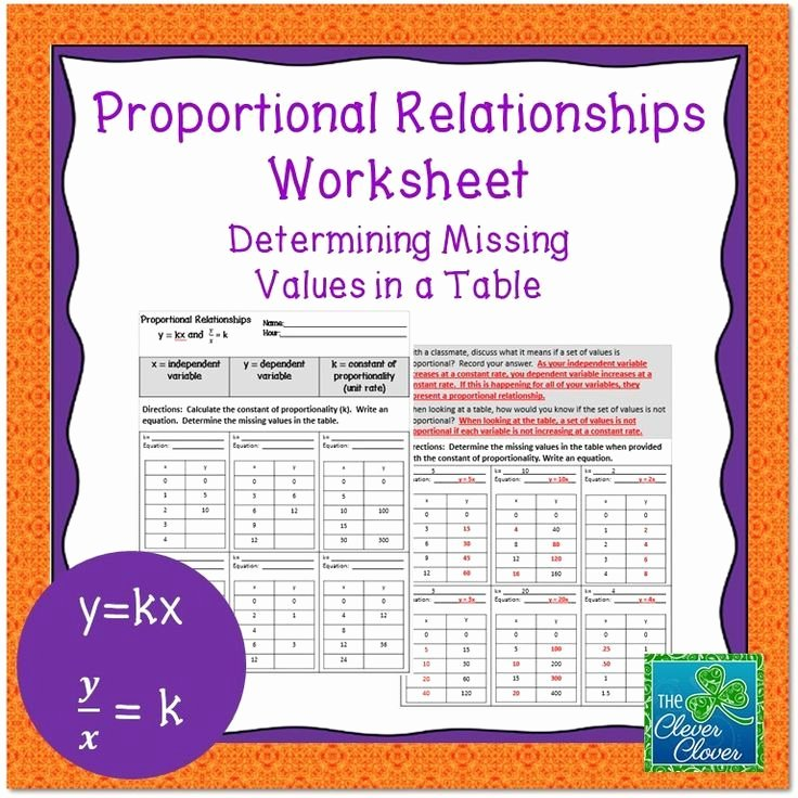 Constant Of Proportionality Worksheet Inspirational Constant Of Proportionality Worksheet