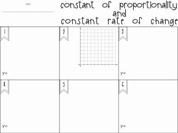 Constant Rate Of Change Worksheet Inspirational Constant Of Proportionality and Constant Rate Of Change