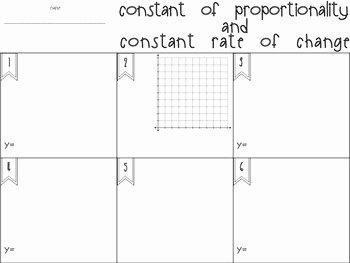 Constant Rate Of Change Worksheet Inspirational Constant Of Proportionality and Constant Rate Of Change