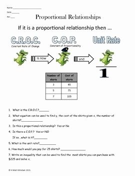 Constant Rate Of Change Worksheet New Proportional Relationships Constant Rate Of Change