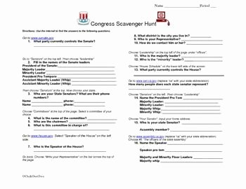 Constitution Scavenger Hunt Worksheet Beautiful Constitution Scavenger Hunt Worksheet Worksheets