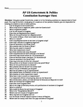 Constitution Scavenger Hunt Worksheet Fresh Constitution Scavenger Hunt by Robert May