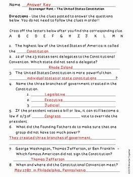 Constitution Scavenger Hunt Worksheet New Constitution Day Informational Text and Scavenger Hunt by