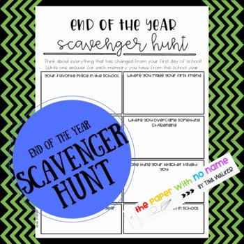 Constitution Scavenger Hunt Worksheet Unique End Of Year Scavenger Hunt Worksheet by the Paper with No