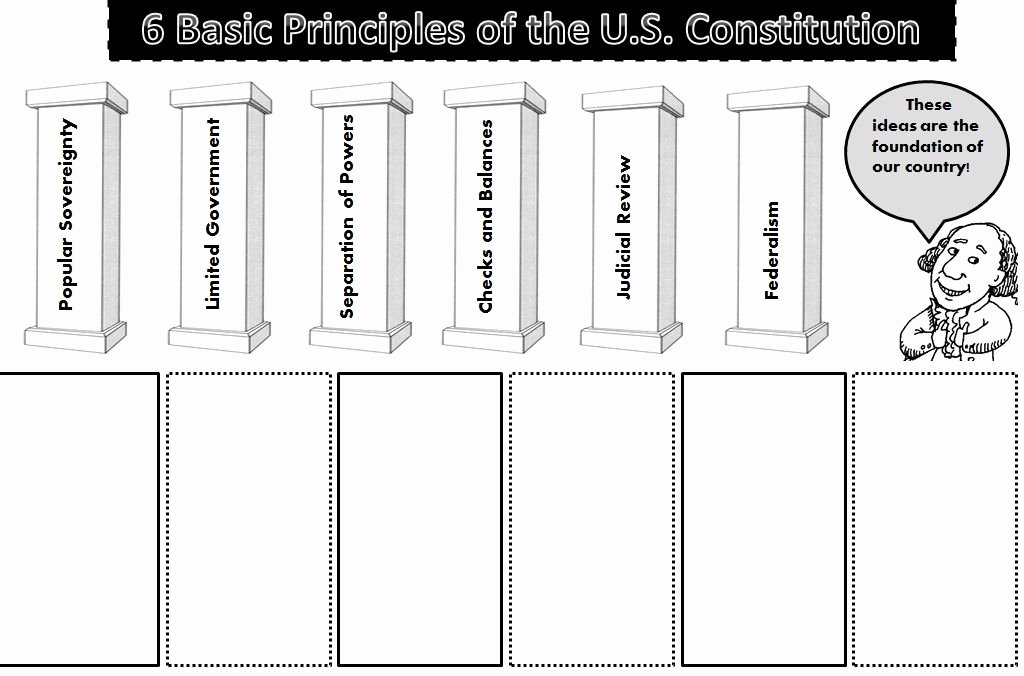 Constitutional Principles Worksheet Answers Beautiful 6 Basic Principles Of the Constitution Student Activity