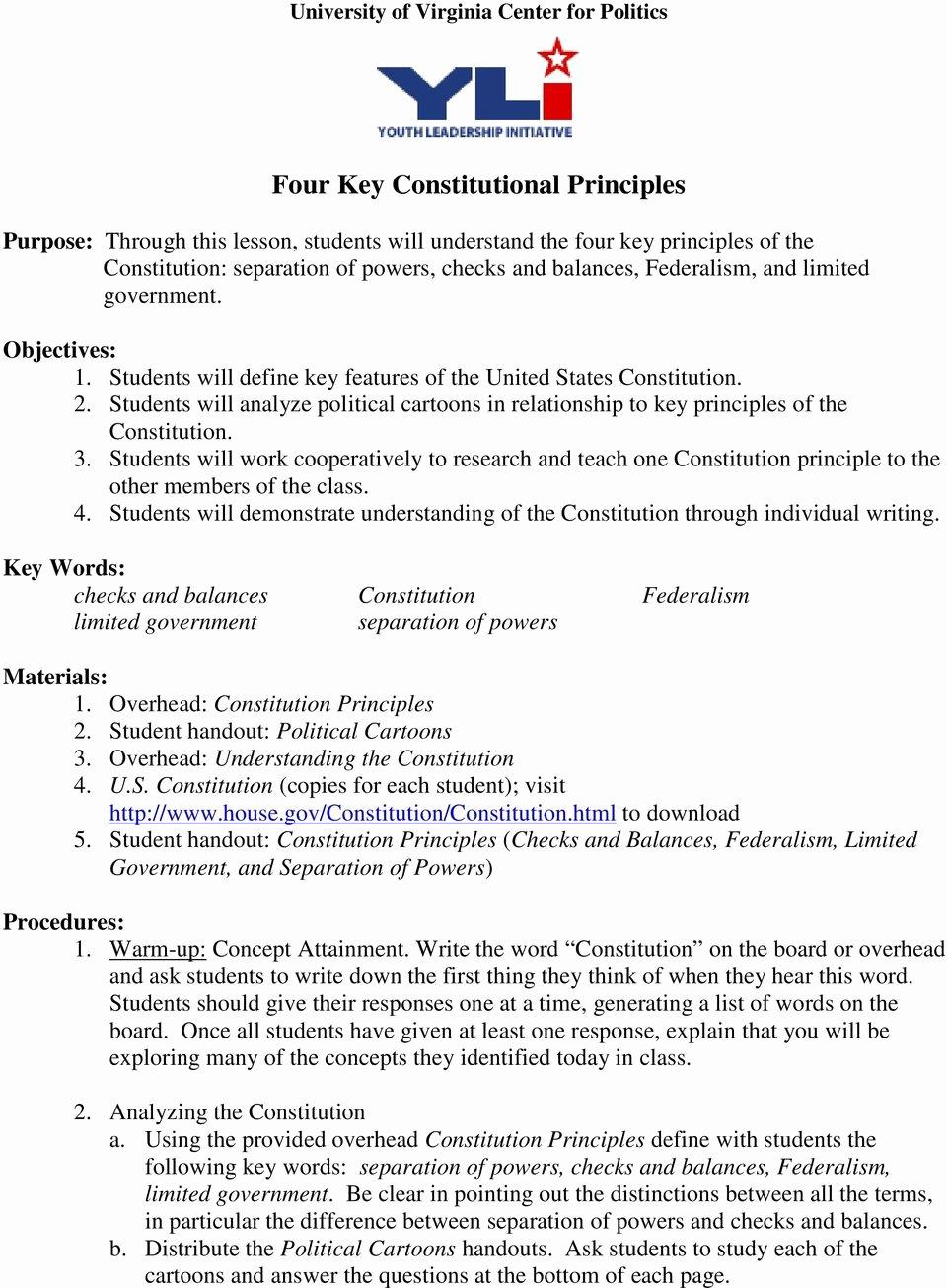 Constitutional Principles Worksheet Answers Luxury Worksheet Separation Powers Worksheet Worksheet Fun