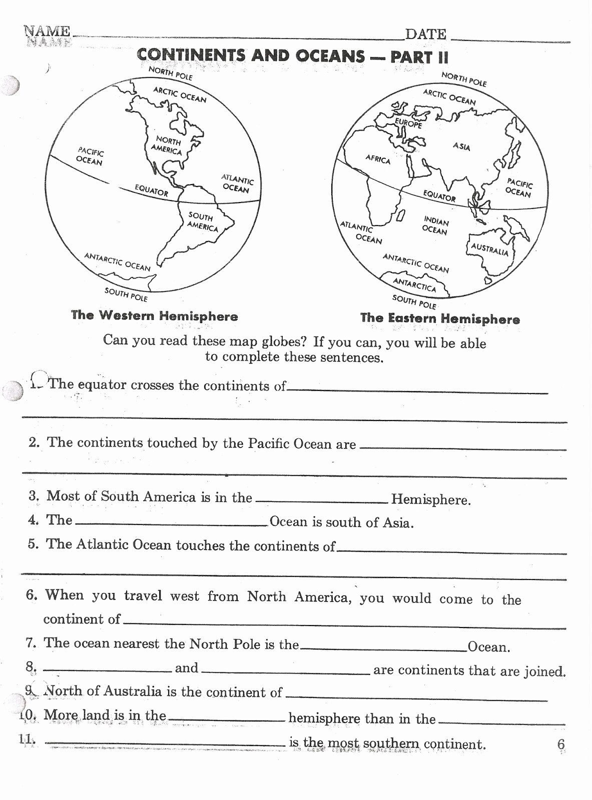 Continents and Oceans Worksheet Best Of Mr Stanton S social Stu S September 2013
