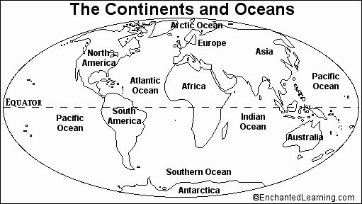 Continents and Oceans Worksheet Fresh Blank Continents and Oceans Worksheets