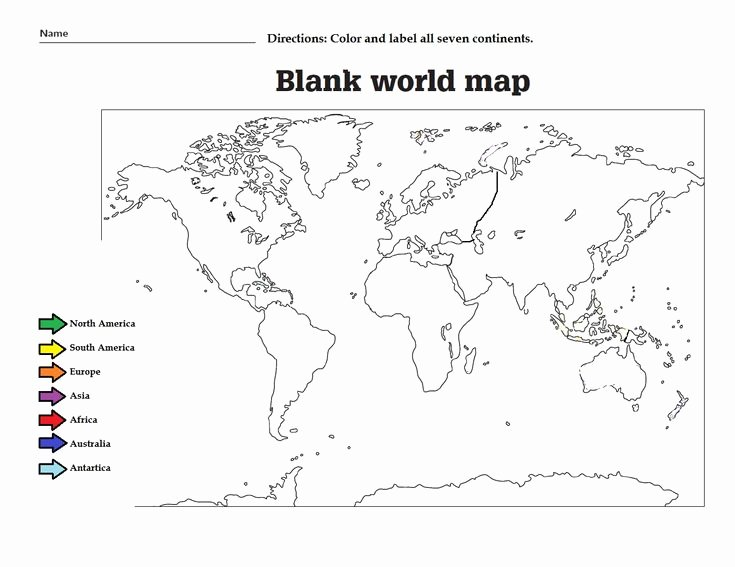 Continents and Oceans Worksheet Fresh the Geography Blog Geography Worksheets Continents and