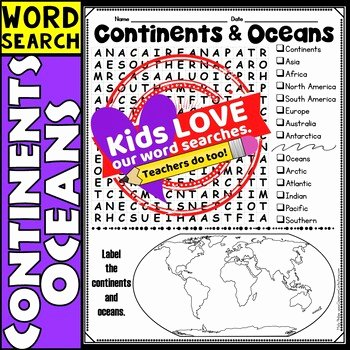 Continents and Oceans Worksheet Pdf Awesome Continents and Oceans Activity Continents and Oceans Word