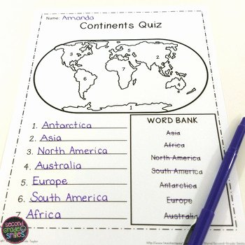 Continents and Oceans Worksheet Pdf Beautiful Continents and Oceans Geography Research Book Study Cards