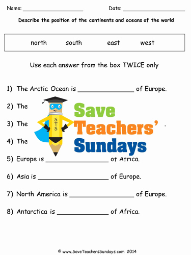 Continents and Oceans Worksheet Pdf Fresh Continents and Oceans Ks1 Lesson Plan Map and Worksheet