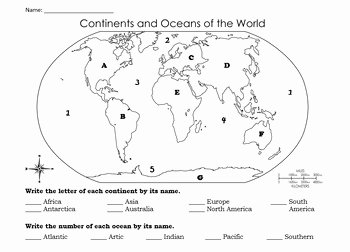Continents and Oceans Worksheet Pdf Fresh Continents and Oceans Quiz & Study Guide by First Year