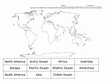 Continents and Oceans Worksheet Pdf Fresh Oceans and Continents Worksheet – Automotivesectorub