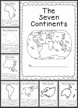 Continents and Oceans Worksheet Pdf Inspirational Continents Explore the 7 Continents by Lucky to Be In