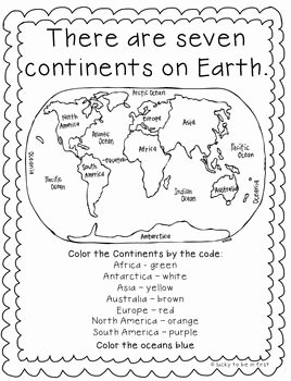 Continents and Oceans Worksheet Pdf Inspirational Continents Explore the 7 Continents