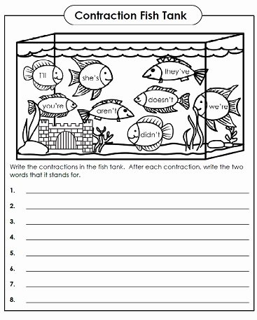 Contractions Worksheet 2nd Grade Beautiful Contraction Worksheets Teaching Contractions