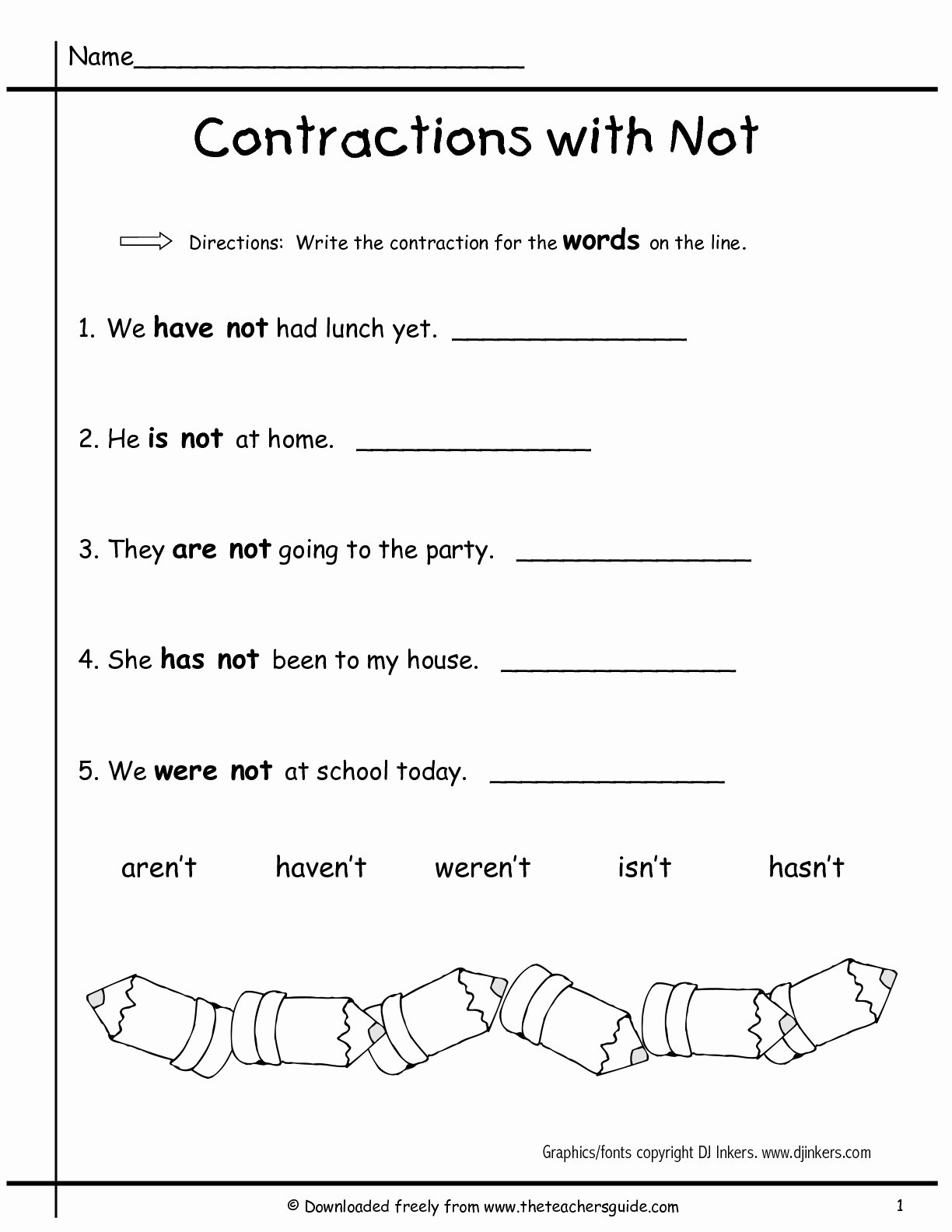 Contractions Worksheet 3rd Grade Lovely 38 Contractions Worksheets for Improving Your Grammar
