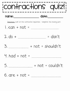 Contractions Worksheet 3rd Grade New Babbling Abby Contraction Activities First Grade