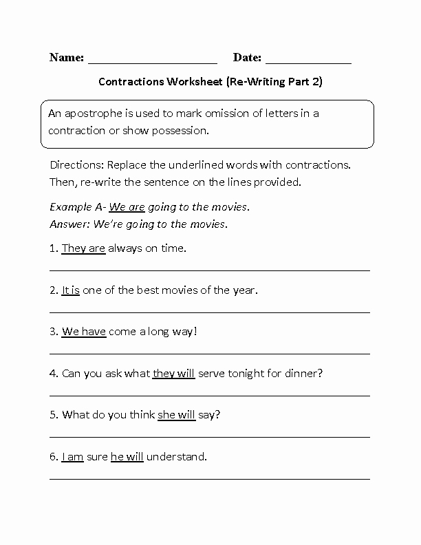 Contractions Worksheet 3rd Grade Unique Englishlinx
