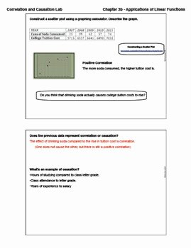 Correlation Vs Causation Worksheet Luxury Correlation and Causation Activity Lesson with Homework
