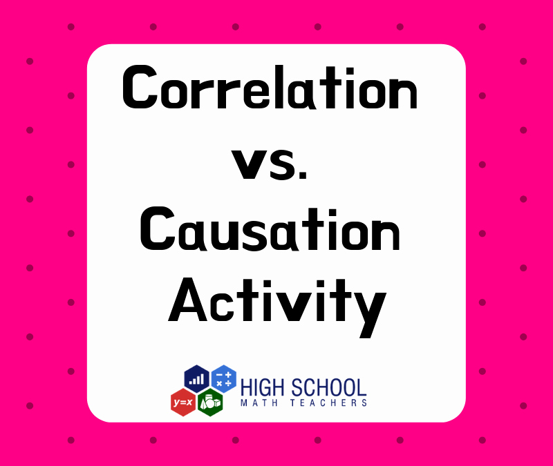 Correlation Vs Causation Worksheet New Correlation Vs Causation Activity Free