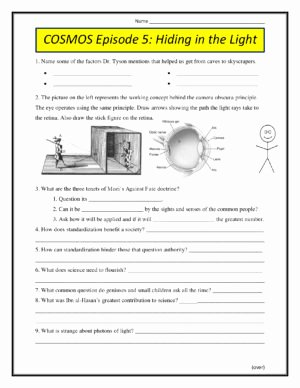 Cosmos Episode 1 Worksheet Answers Beautiful Cosmos Episode 1 Standing Up In the Milky Way Worksheet
