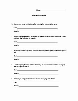 Cost Benefit Analysis Worksheet Best Of Cost Benefit Analysis Worksheet by Monica Hiatt